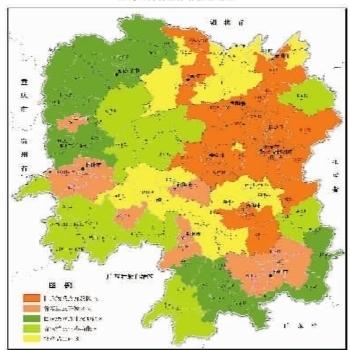 图8:湖南省主体功能区划图