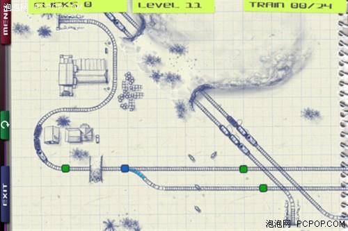 苹果益智休闲游戏 素描画面的纸火车