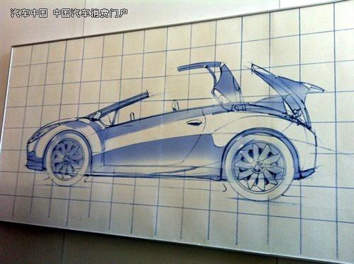 最新曝出的手绘图稿 现代酷派跑车改装敞篷高清图片