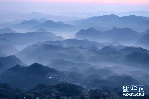 浙江台州市天台县天台山风光(2011年4月15日摄)