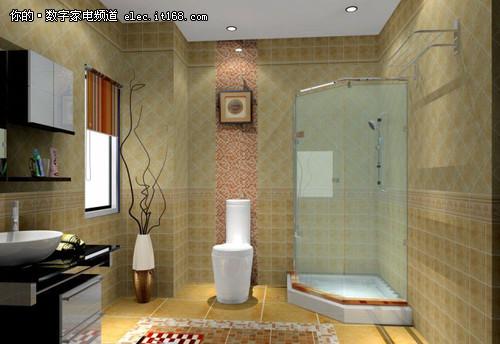 强佑清河新城室内图 圆方卫生间效果图 高清图片