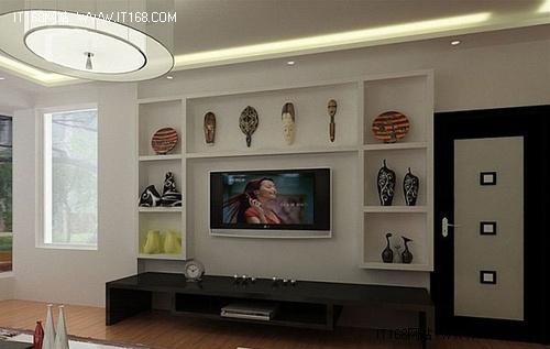 现代简约风格 36款电视背景墙效果图赏