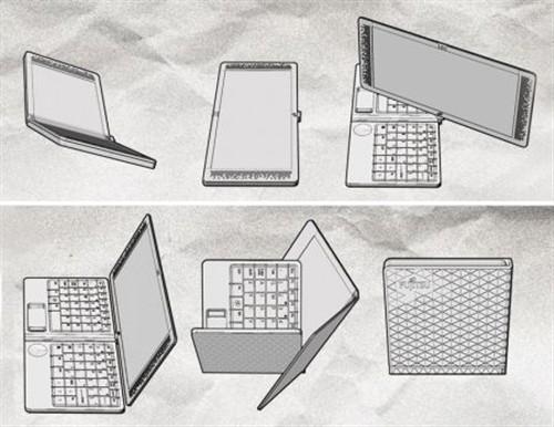 折叠概念笔记本设计图