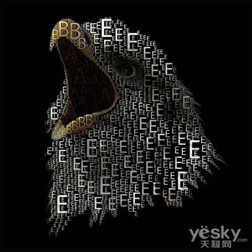 创意设计欣赏:有意思的字母组合图案图片