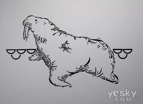 创意设计欣赏:有意思的字母组合图案