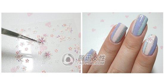 美甲樱花画法步骤