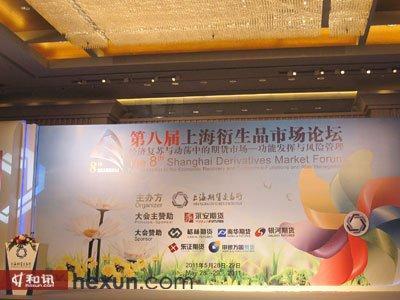 第八届上海衍生品市场论坛现场背板