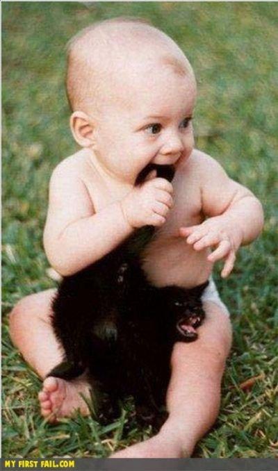 可爱小孩抓狂图片