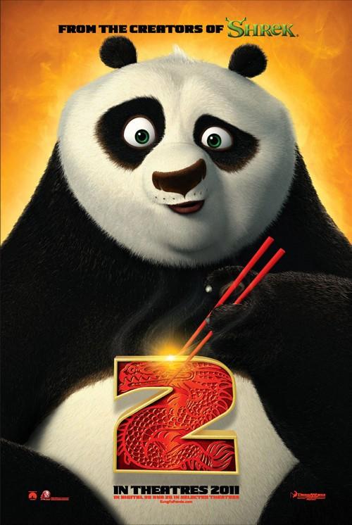 电影 功夫熊猫2 海报高清图片