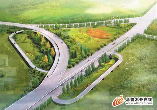 中标单位:中国城市规划设计院.   动感曲线贯穿全线