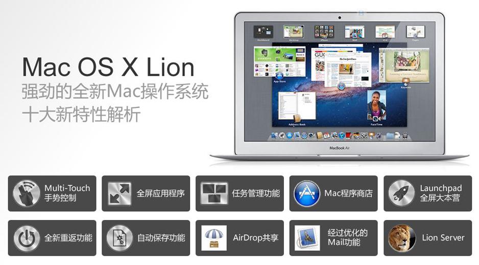 图解Mac OS X新功能