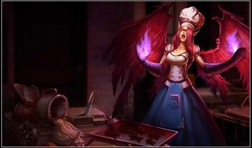 身 英雄联盟 堕落天使莫甘娜