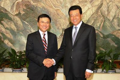 驻英国大使刘晓明会见香港特区政府财经事务及库务局局长陈家强