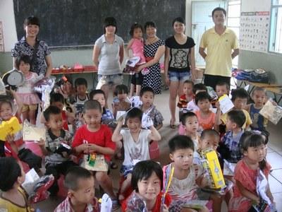 英都童馨幼儿园开展关爱帮扶留守儿童活动