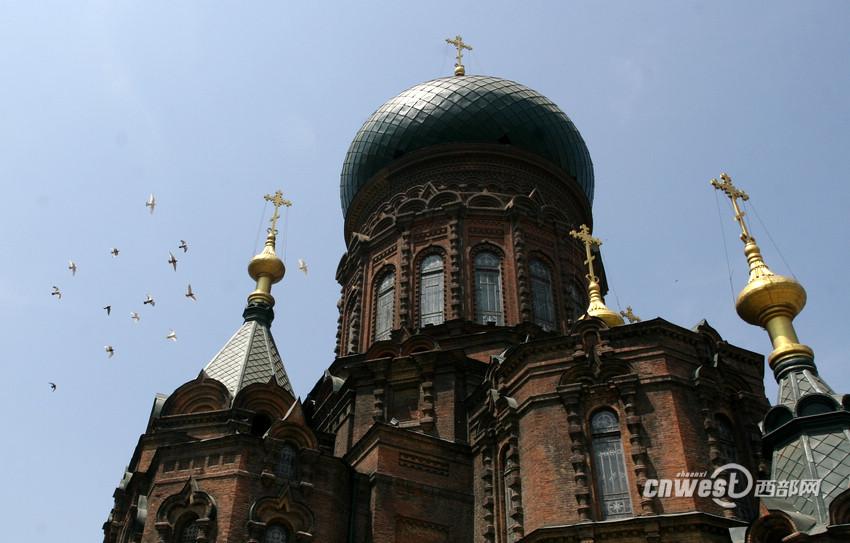 高清组图:哈尔滨地标:圣·索菲亚大教堂