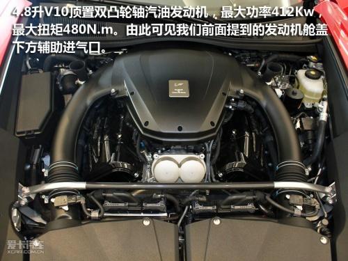 马力超跑的发动机舱盖可以看到,lfa搭载雷克萨斯与雅马哈合作研发的4.