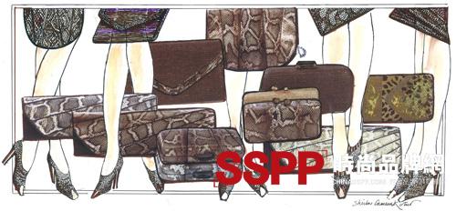 手绘简约服装设计图展示