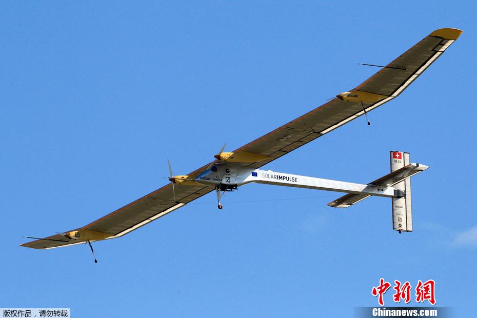 """世界最大的太阳能飞机""""太阳驱动""""号在"""