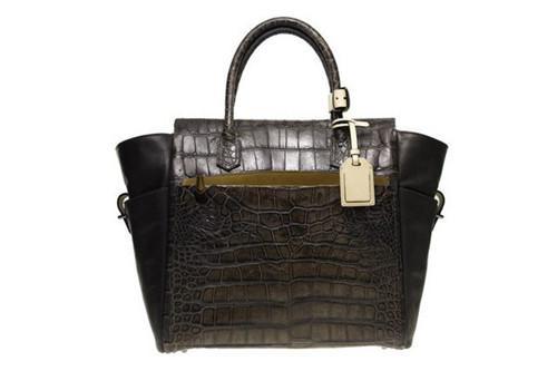鳄鱼皮纹理手提包