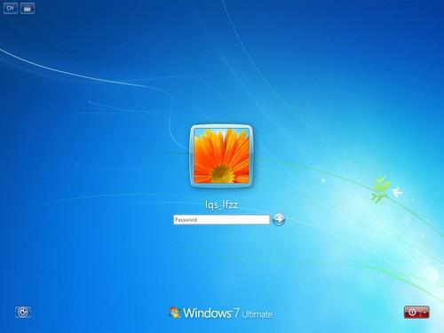 两个登陆界面唯一的区别就是系统默认图标变了,windows 8登陆界面图片