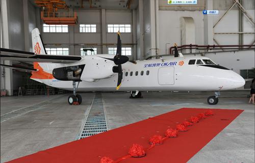 此次交付奥凯航空有限公司的新舟60飞机 冯新胜摄