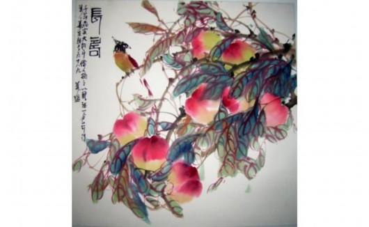 写意国画桃子步骤