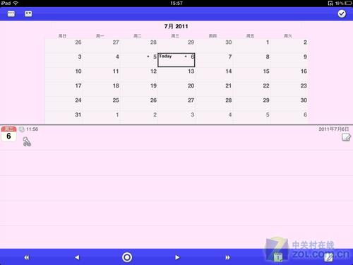 按日期管理iPad记事本