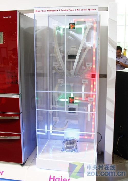 海尔智能冰箱内部工作原理展示