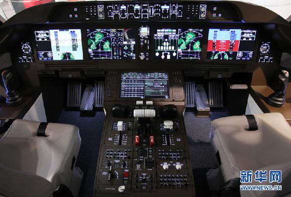 拍摄的c919样机的驾驶室