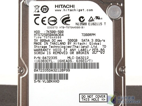 7200转高速 市售500G笔记本硬盘搜罗
