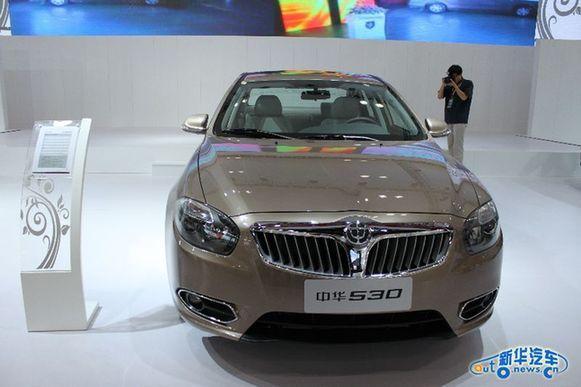"""中华530是华晨全新推出的大紧凑型车,外形有着""""宝马""""风高清图片"""