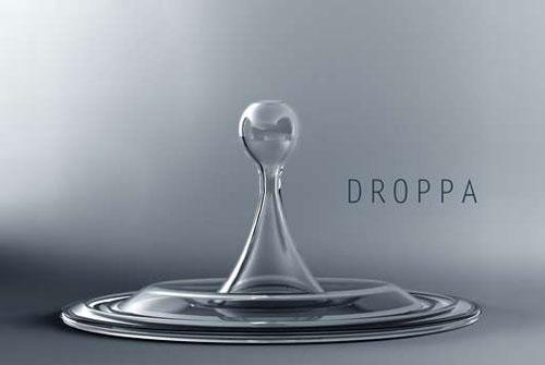 OPPA 就像一滴水掉进了平静的水面转瞬间而形成的瓶子视觉上图片