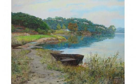 返璞归真之朝鲜风景油画