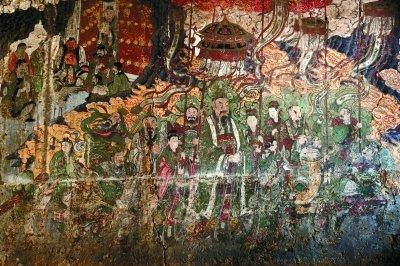 古寺壁画 闫柏青 摄图片