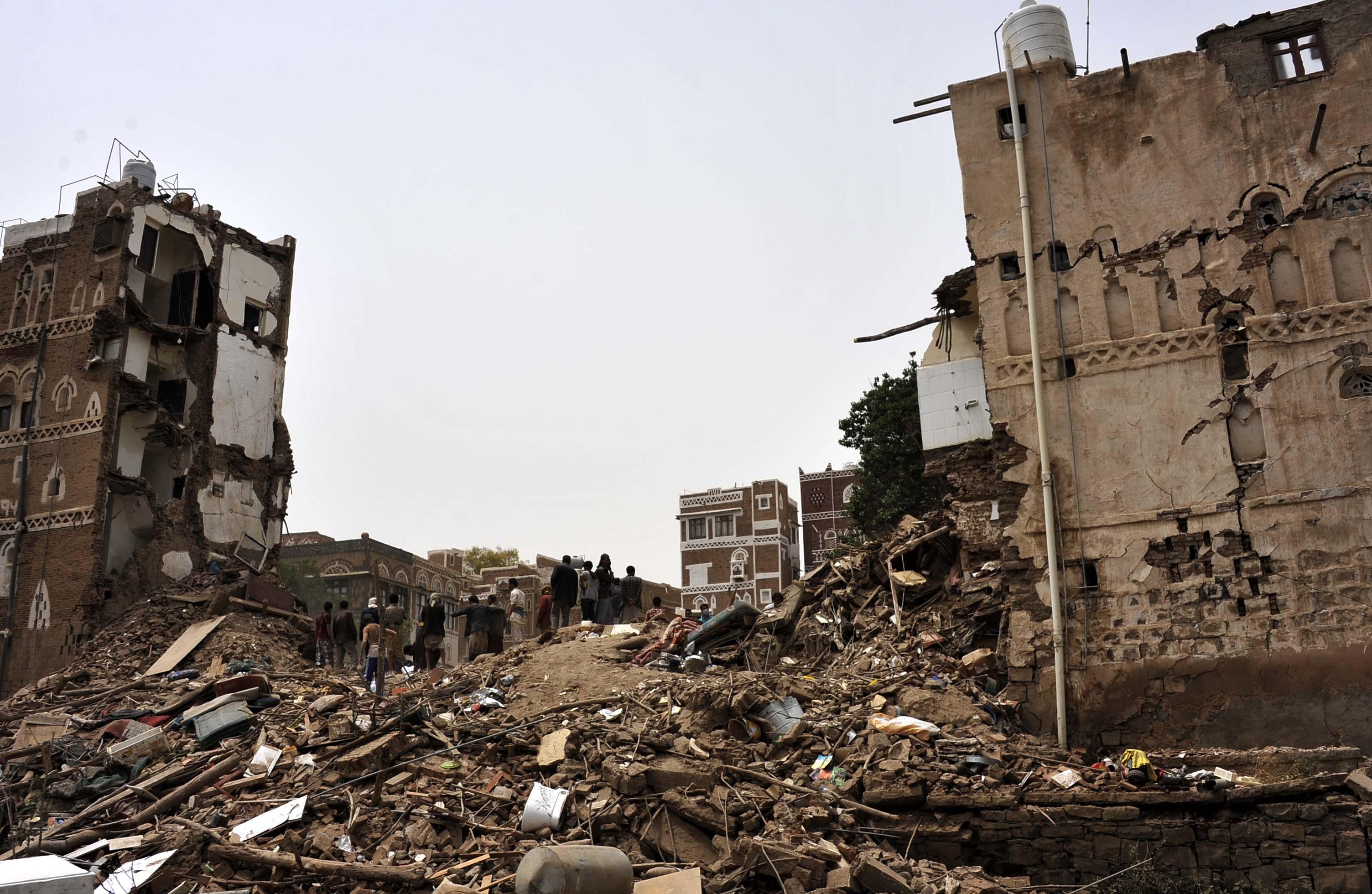 视角 2 也门古迹遭沙特等国战机空袭图片