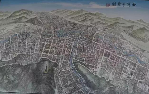 《西宁手绘地图》由省基础地理
